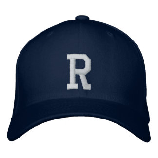 R Letter Embroidered Hat