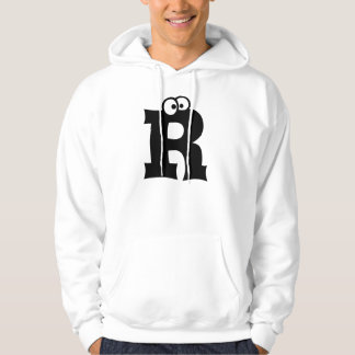 R, letter with eyeballs hoodie