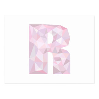 R - Low Poly Triangles - Neutral Pink Purple Gray Postcard