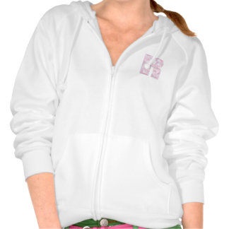 R - Low Poly Triangles - Neutral Pink Purple Gray Hoodie