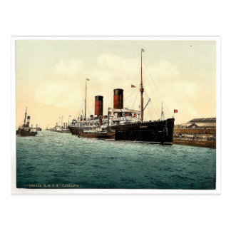 "R.M.S. ""Campania"" en el Mersey Photochrom raro Tarjetas Postales"