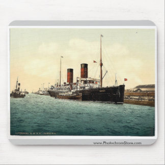 """R. M. S. """"Campania"""" in the Mersey rare Photochrom Mouse Pad"""