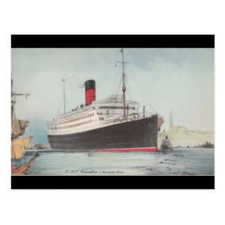 R.M.S. Carinthia Vintage Postcard