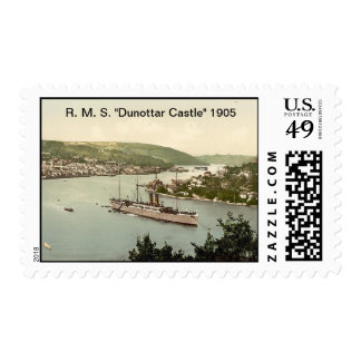 """R. M. S. """"Dunottar Castle"""" 1905 Postage"""