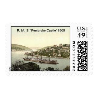 """R. M. S. """"Pembroke Castle"""" 1905 Postage"""