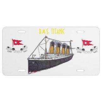 R.M.S. TITANIC License Plate