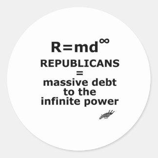 R=md Classic Round Sticker