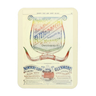R. Monarch historic 1893 whiskey label magnet