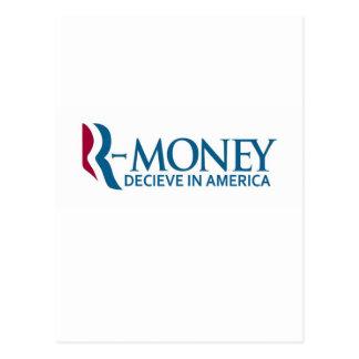 R-Money (Anti-Romney) Postcard