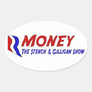 R-MONEY OVAL STICKER