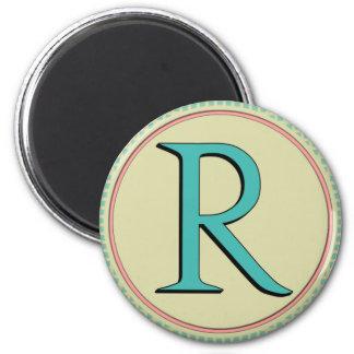R MONOGRAM FRIDGE MAGNETS