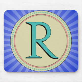 R MONOGRAM MOUSE PAD