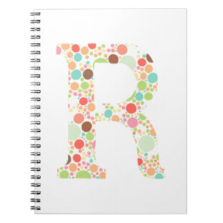 R monogram spiral notebook