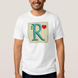 R MONOGRAM TEE SHIRT