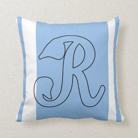 R Monogrammed Pillow