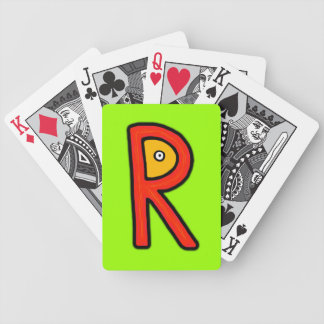 R Monster Bicycle Poker Cards
