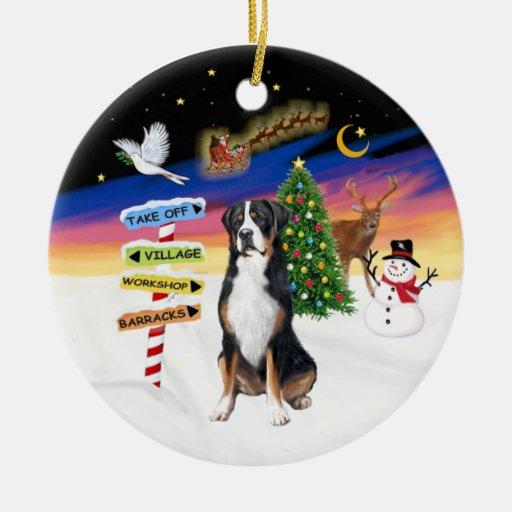 R - Muestras de Navidad - mayor perro suizo de la  Ornato