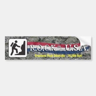 R.O.C.K. in the U.S.A. - Hiker Bumper Sticker