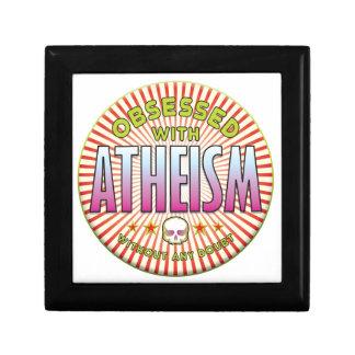 R obsesionado el ateísmo cajas de joyas