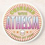 R obsesionado el ateísmo posavasos diseño