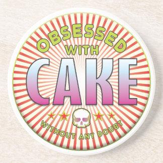 R obsesionado torta posavasos personalizados