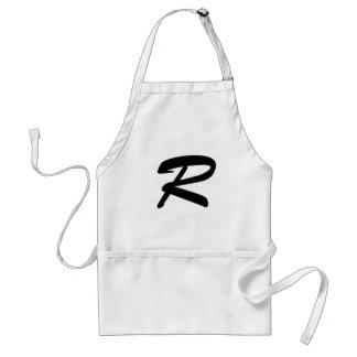 R para ridículo apuesto delantal