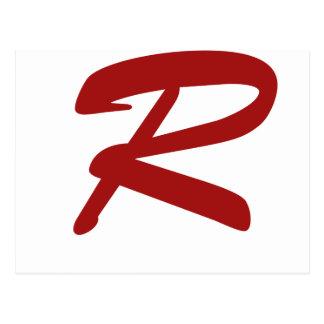 R para ridículo apuesto postales