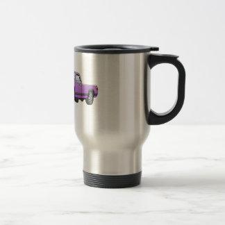 R púrpuras cogen el dibujo animado del quitanieves tazas de café