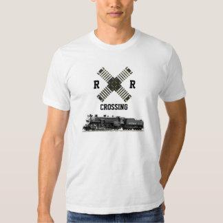 R.R. Crossing & Steam Locomotive T Shirt