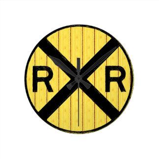 R.R. Crossing Wall Clock