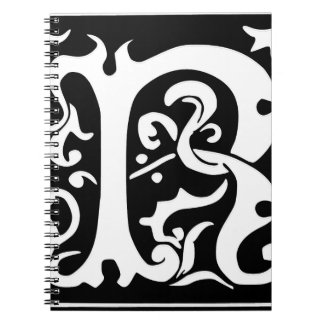 R-R letter Mister Right love Spiral Note Book