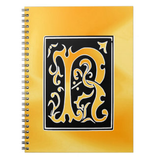 R-R letter Mister Right love Spiral Notebook