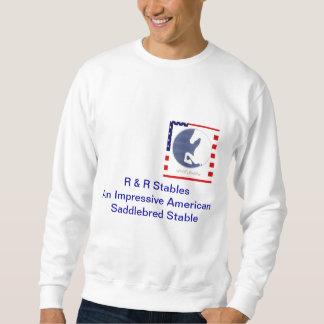 R & R Logo with  American Flag border Pullover Sweatshirts