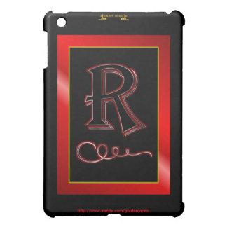 """R"" r Monogram Letter R Initial surname christian Case For The iPad Mini"