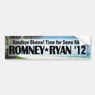 R&R Romney/pegatina para el parachoques de Ryan Pegatina De Parachoque