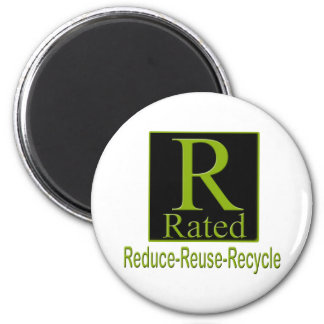 R Rated Recyle Magnet