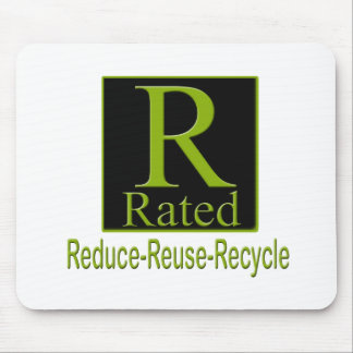 R Rated Recyle Mouse Pad