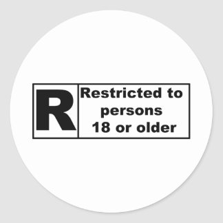 R-Rating Classic Round Sticker