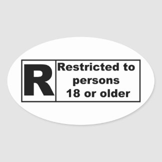 R-Rating Oval Sticker