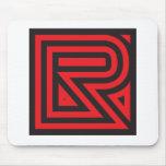 R red black mousepad