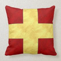 R Romeo Watercolor Nautical Signal Maritime Flag Throw Pillow