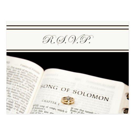 R.S.V.P.  Biblia cristiana r de la postal del
