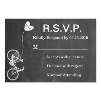 R.S.V.P. Chalkboard Wedding Invite Bike and Heart