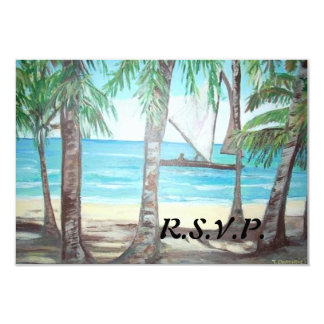 R.S.V.P. Invitation - Luquillo Beach Painting