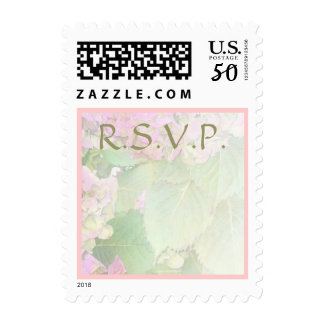 R.S.V.P. Pink Hydrangeas Light Postage