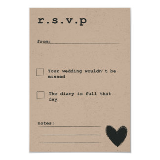 R.S.V.P Rustic Dream Collection Card