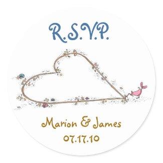R.S.V.P. sticker