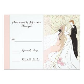 R.S.V.P. wedding Card