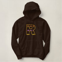 """R"" Southwest Alphabet Embroidered Hoodie"