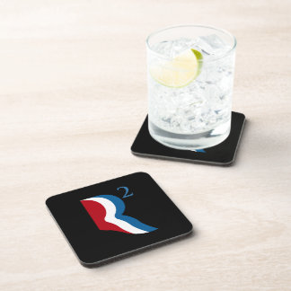 R SQUARED - ROMNEY RICE -.png Beverage Coasters